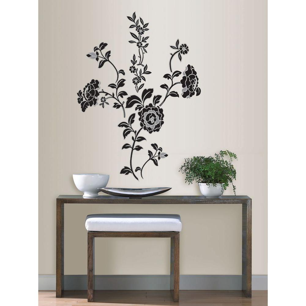 3.5 in. x 2 in. Brocade Wall Art Decal Kit