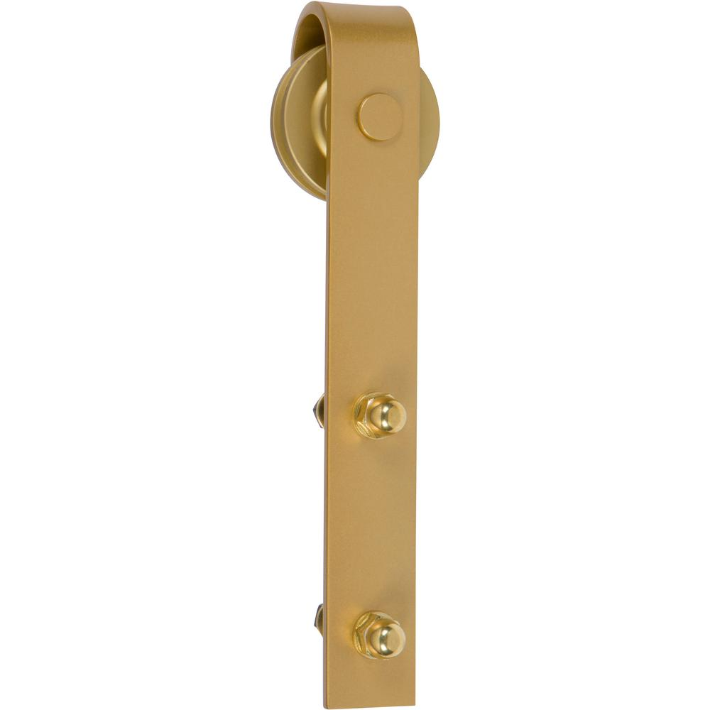 Delaney 1000 Series 6 Ft Satin Brass Standard Style Rollers Barn Door Hardware Kit Bd1066 The Home Depot
