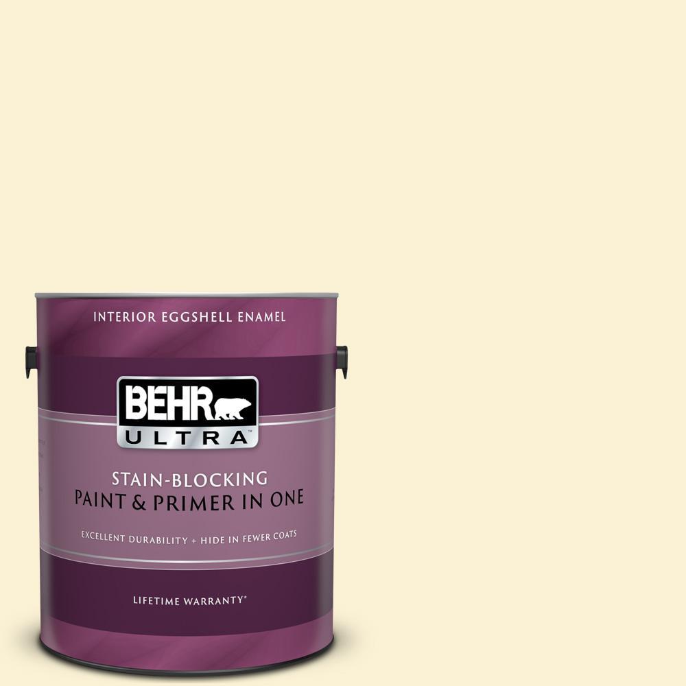 Behr Ultra 1 Gal 350a 2 Vanilla Milkshake Eggshell Enamel Interior Paint And Primer In One 275001 The Home Depot