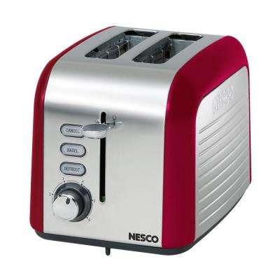 2-Slice Red and Chrome Toaster