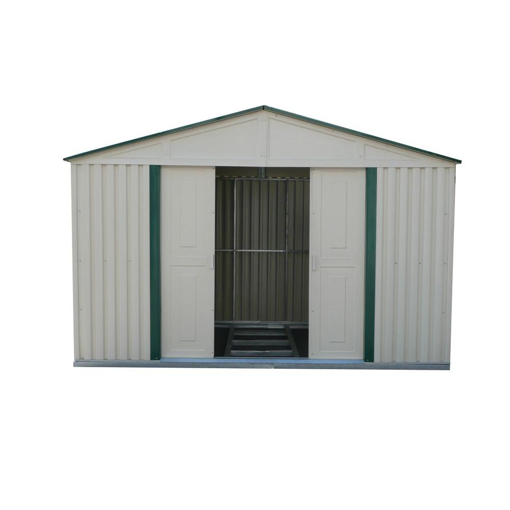 Duramax Building Products 10 ft. x 8 ft. Green Trim Metal Shed