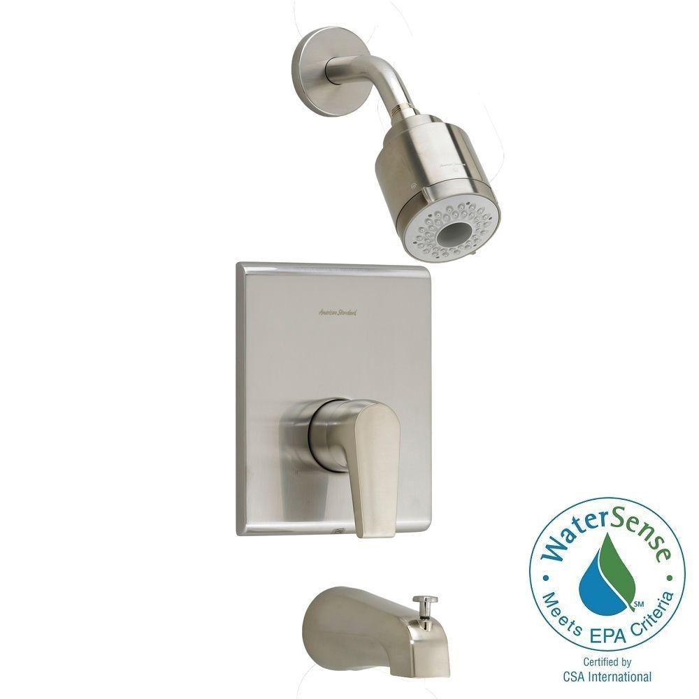 American Standard Studio 1-Handle Tub and Shower Faucet Trim Kit in Brushed Nickel (Valve Sold Separately)