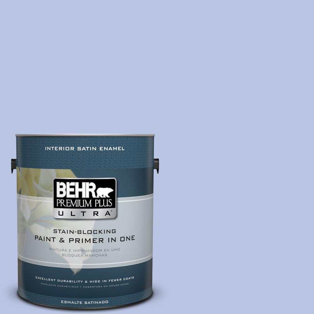 BEHR Premium Plus Ultra 1-gal. #600A-3 California Lilac Satin Enamel Interior Paint