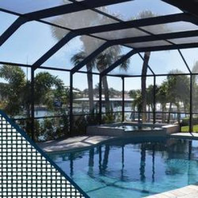 72 in. x 25 ft. Charcoal Fiberglass Pool and Patio Screen