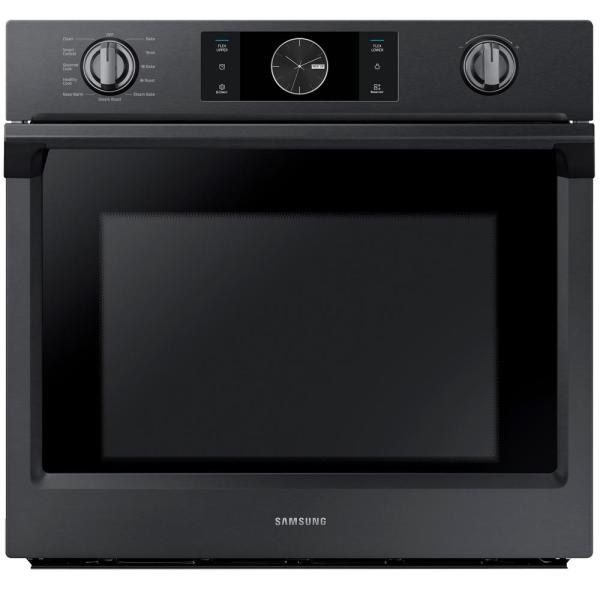 30 in. Single Electric Wall Oven with Steam Cook, Flex Duo and Dual Convection in Fingerprint Resistant Black Stainless
