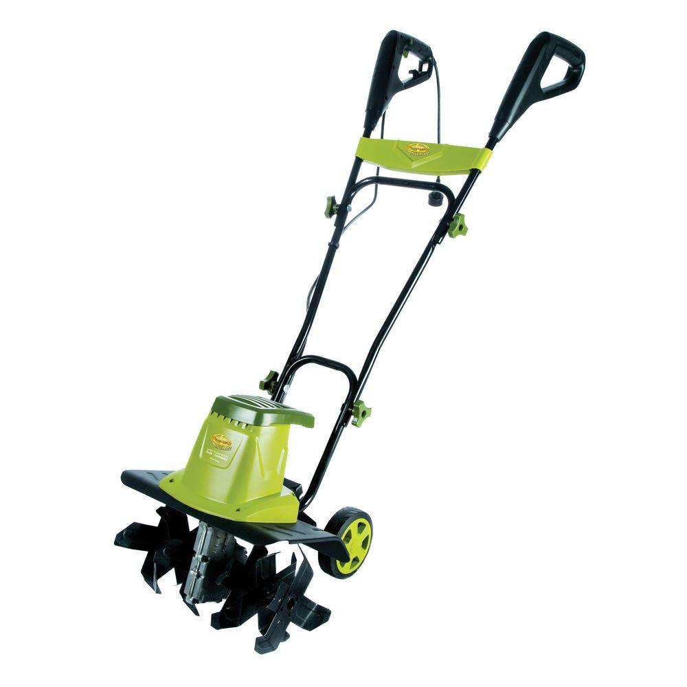 Tillers Cultivators Outdoor Power Equipment The Home Depot Evtv Motor Verks Store Connecticut Electric 50 Amp 120240 Volt 135 16 In Tiller Cultivator With 55 Wheels