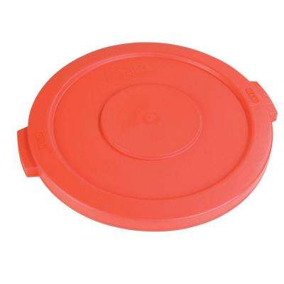 Bronco 55 Gal. Red Round Trash Can Lid (2-Pack)