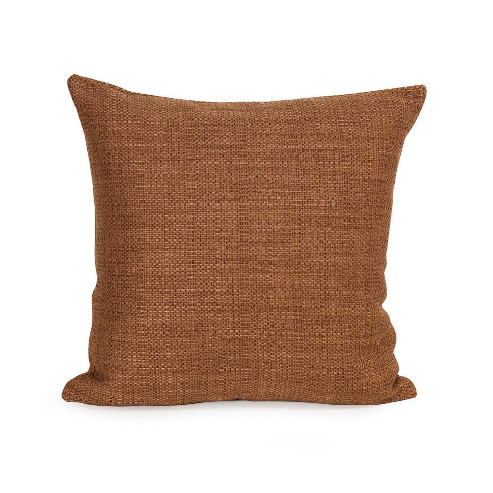 Coco Brown Topaz 16 in. x 16 in. Decorative Pillow