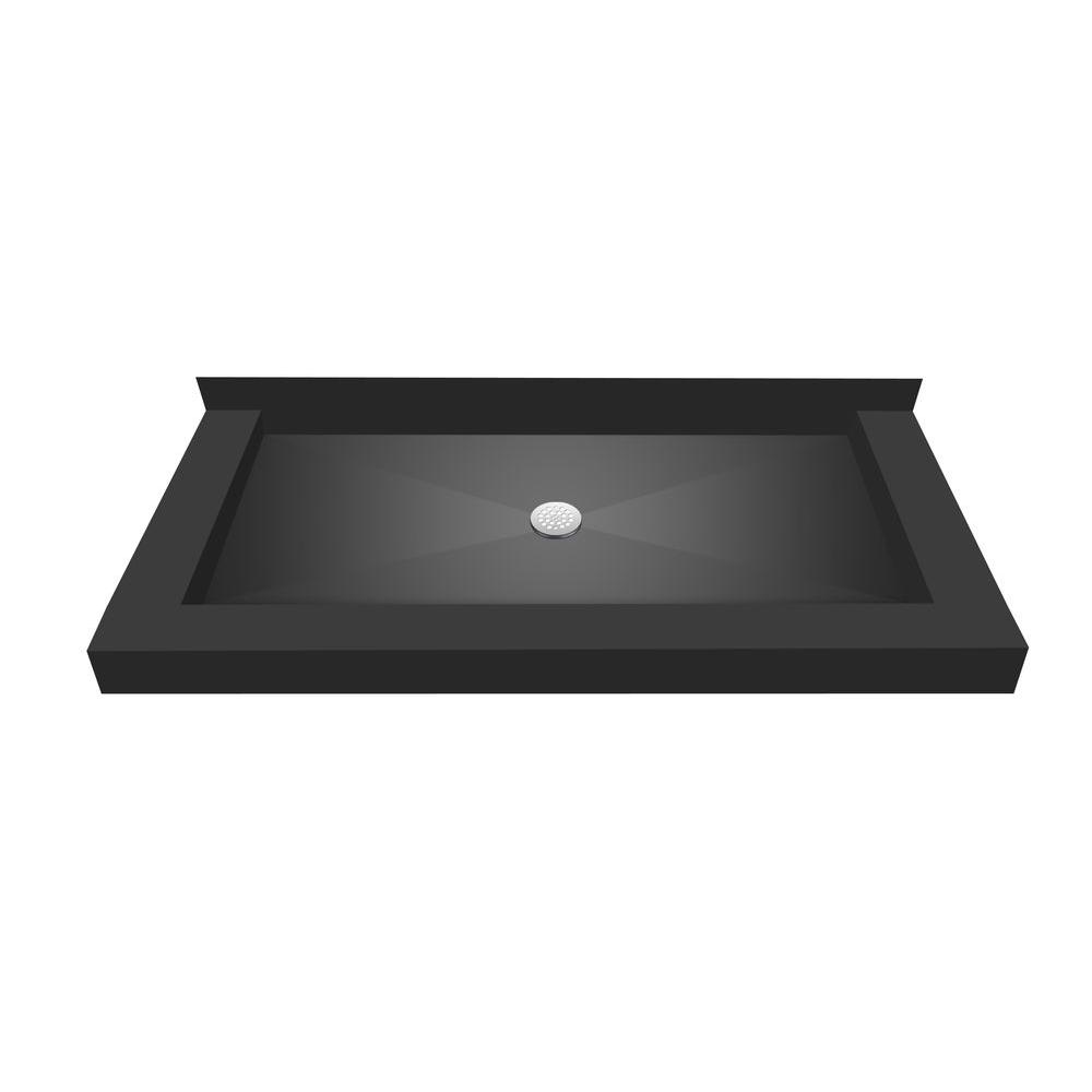 48 in. x 60 in. Triple Threshold Shower Base with Center