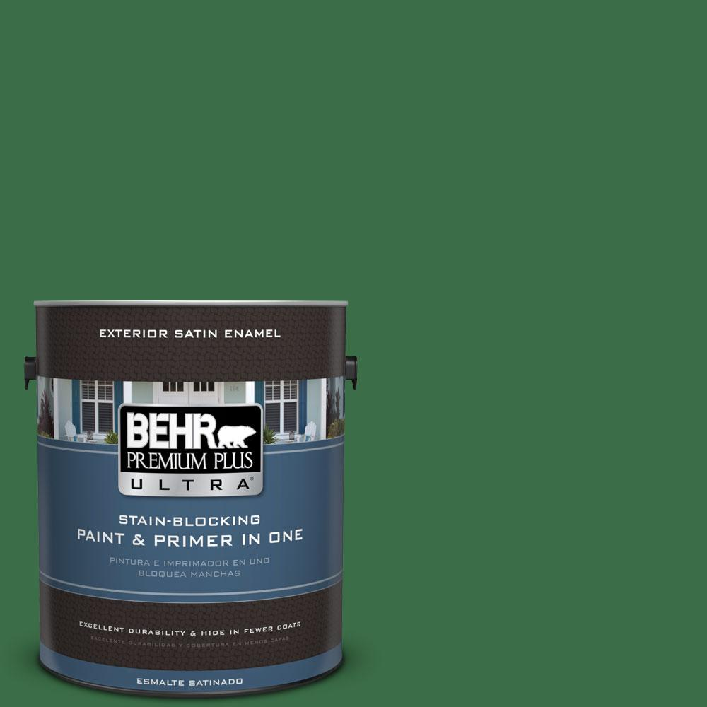 BEHR Premium Plus Ultra 1-gal. #S-H-450 Parsley Sprig Satin Enamel Exterior Paint