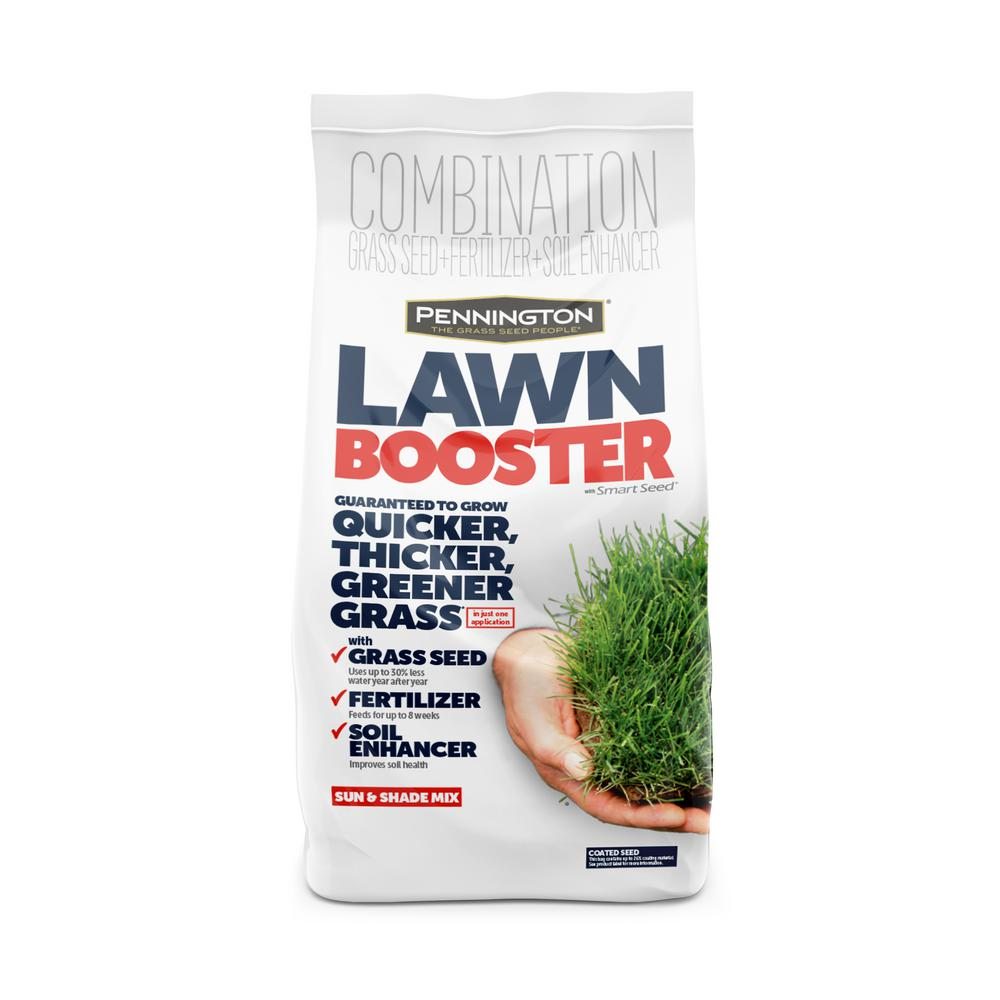 Pennington 9.6 lbs. Lawn Booster Sun and Shade with Smart Seed, Fertilizer and Soil Enhancers