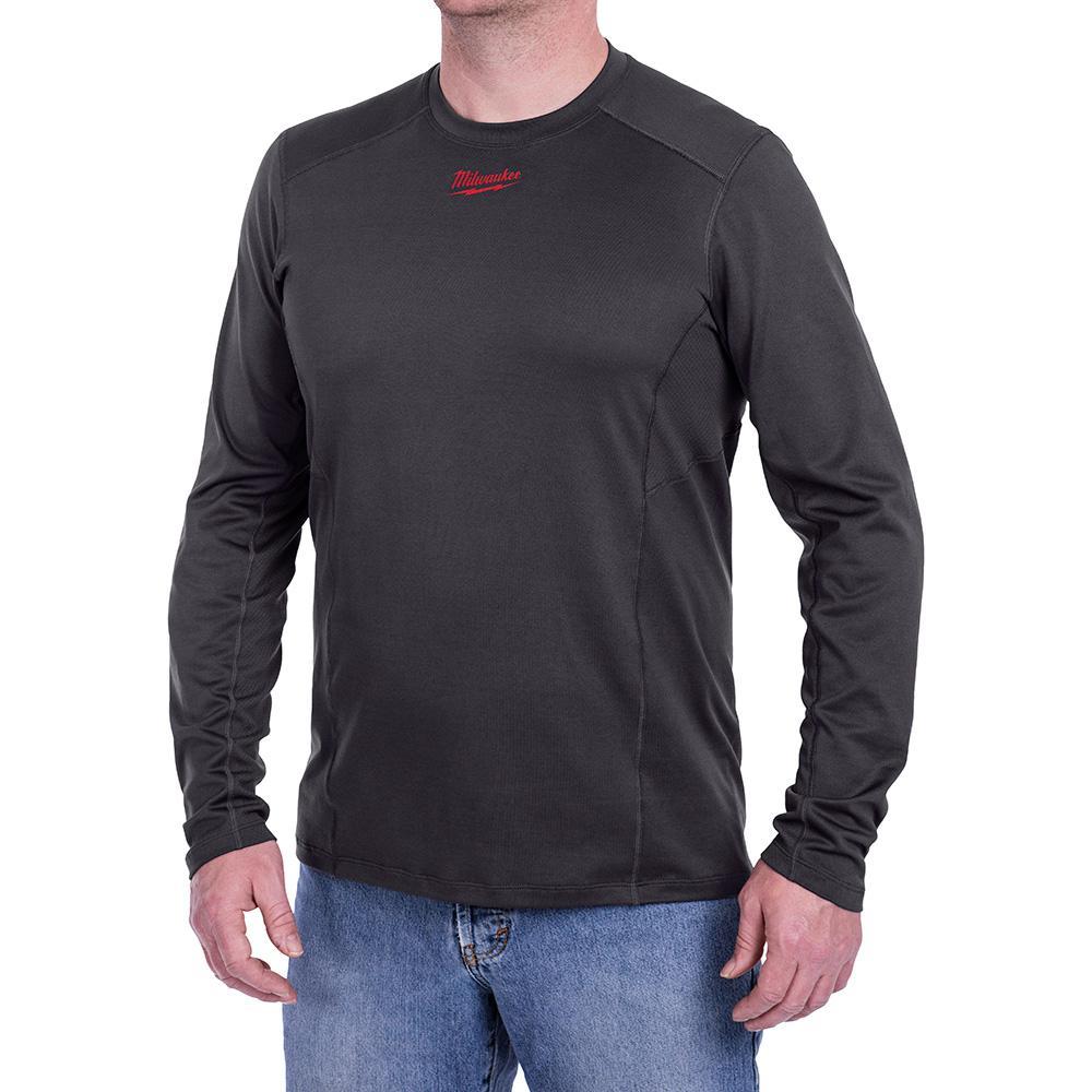 Men's Medium WorkSkin Gray Cold Weather Base Layer Shirt