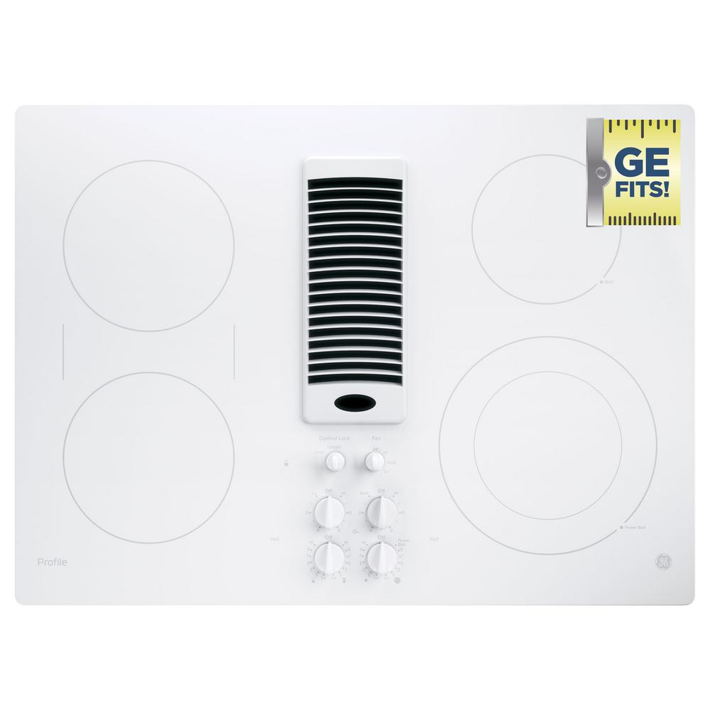 Ge Radiant Cooktops ~ Ge profile in radiant electric downdraft cooktop
