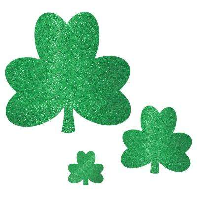 St. Patrick's Day Green Paper Shamrock Cutout Assortment (20-Count, 2-Pack)