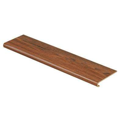 Red Hickory 47 in. Length x 12-1/8 in. Deep x 1-11/16 in. Height Vinyl to Cover Stairs 1 in. Thick