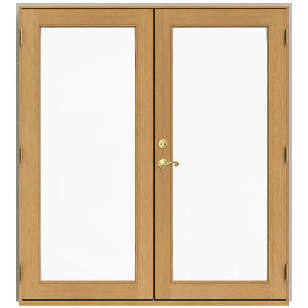 Jeld wen 71 5 in x 79 5 in w 2500 desert sand left hand for Wood french patio doors