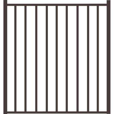 Beechmont Heavy-Duty 4 ft. x 4 ft. Pewter Aluminum Straight Pre-Assembled Fence Gate
