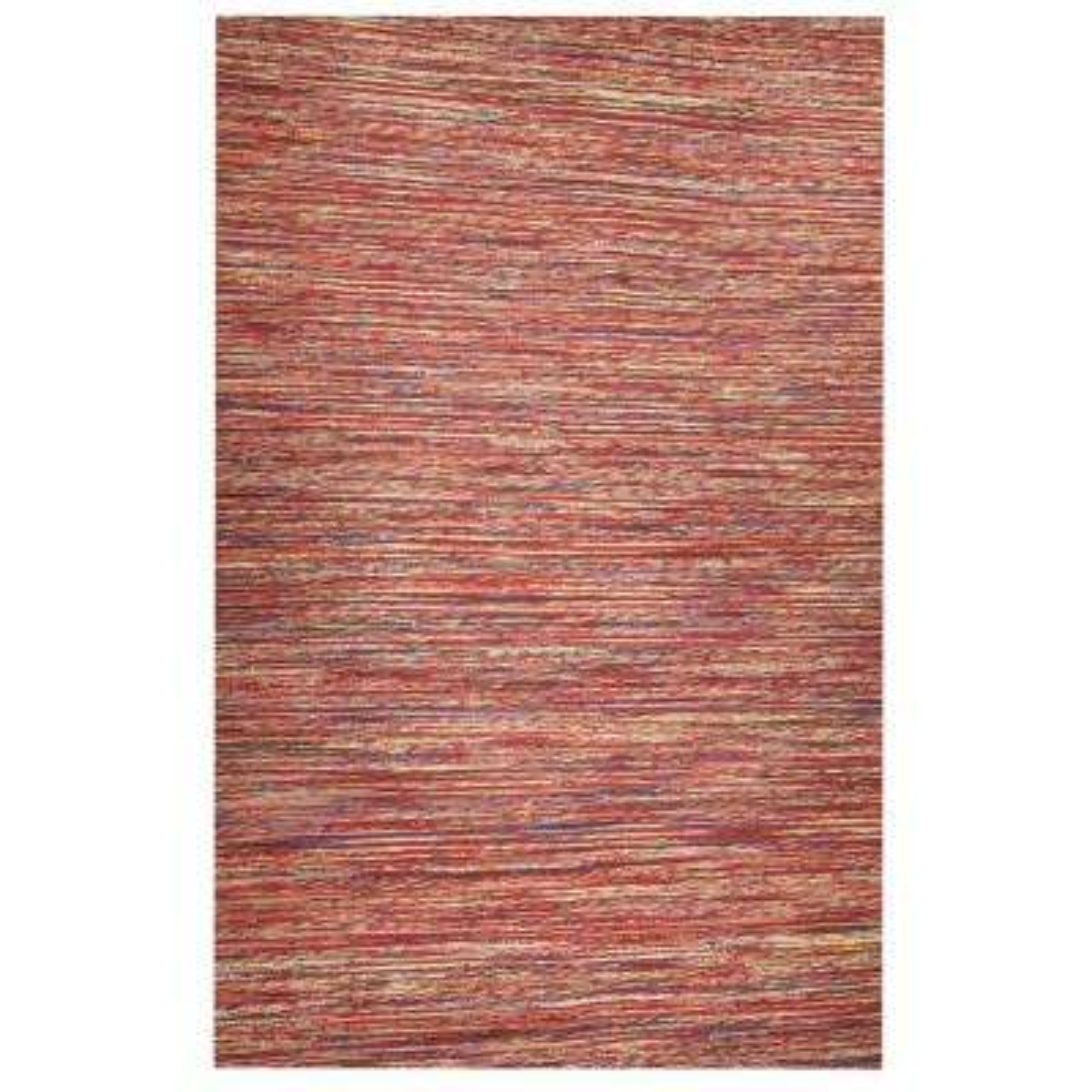 Sari Silk and Jute Red 6 ft. x 9 ft. Area Rug