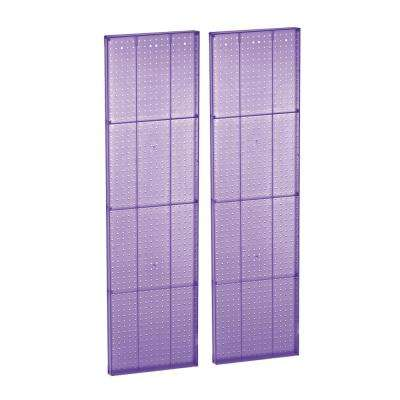 60 in. H x 16 in. W Pegboard Purple Styrene One sided Panel (2-Pieces per Box)