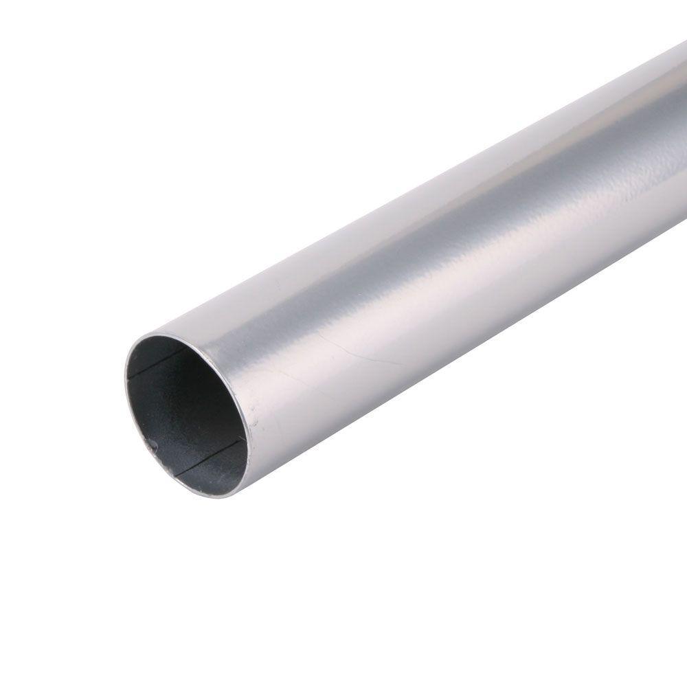 72 in. x 1-1/4 in. Platinum Closet Pole
