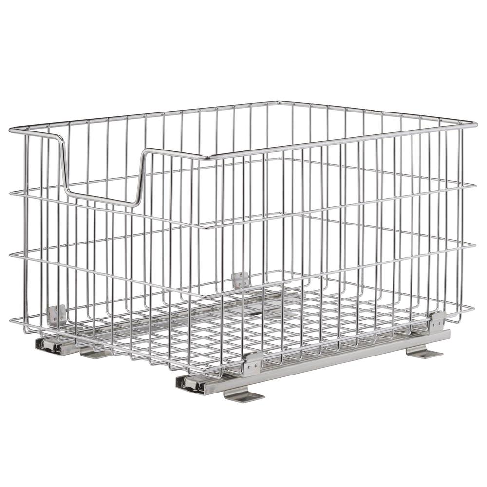 HDX 17.7 in. x 13 in. Single Sliding Basket