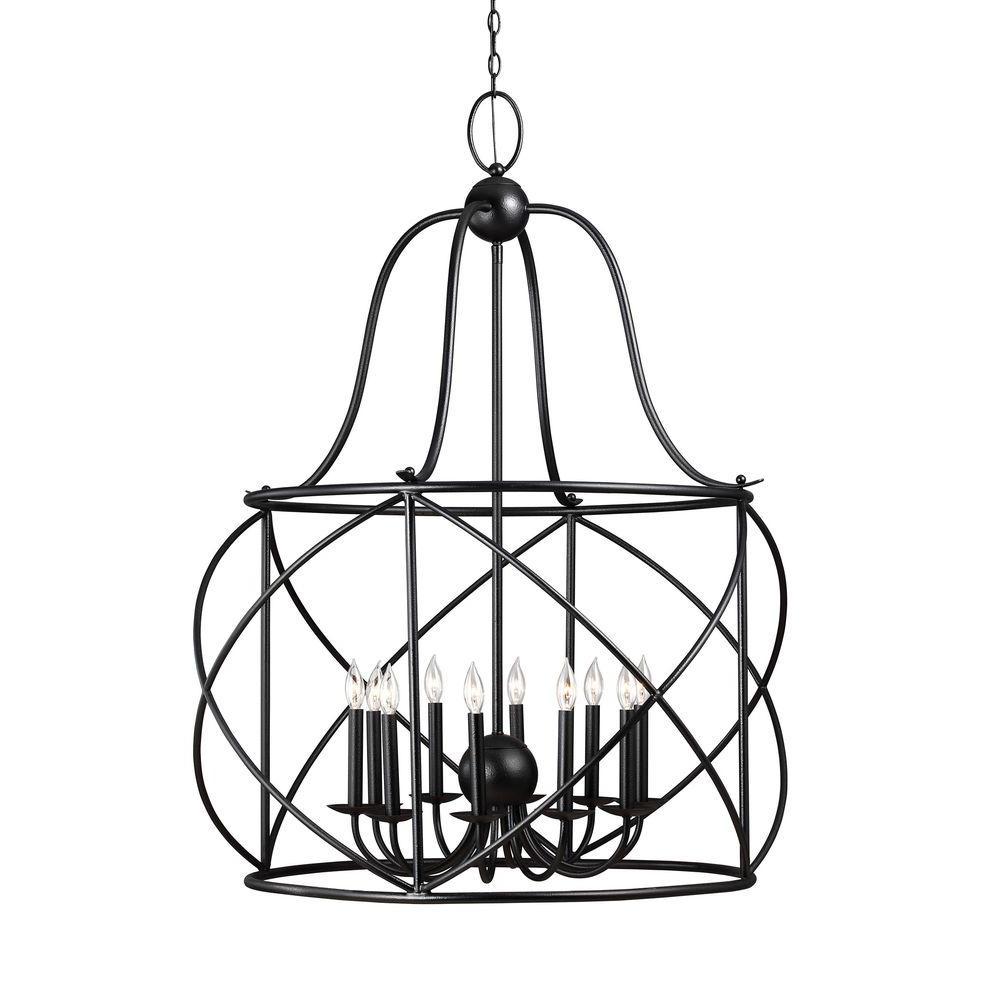 Turbinio 10-Light Blacksmith Indoor Pendant