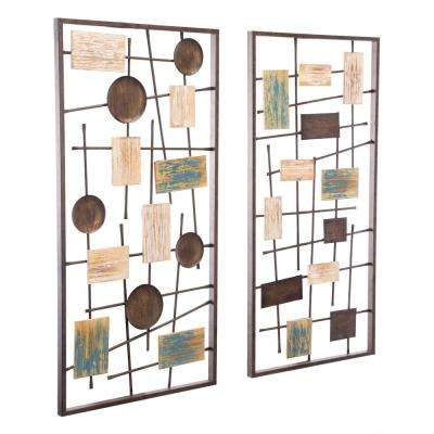 Metal Abstract Wall Decor (Set of 2)