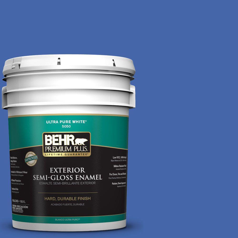 5-gal. #P530-6 Indigo Batik Semi-Gloss Enamel Exterior Paint