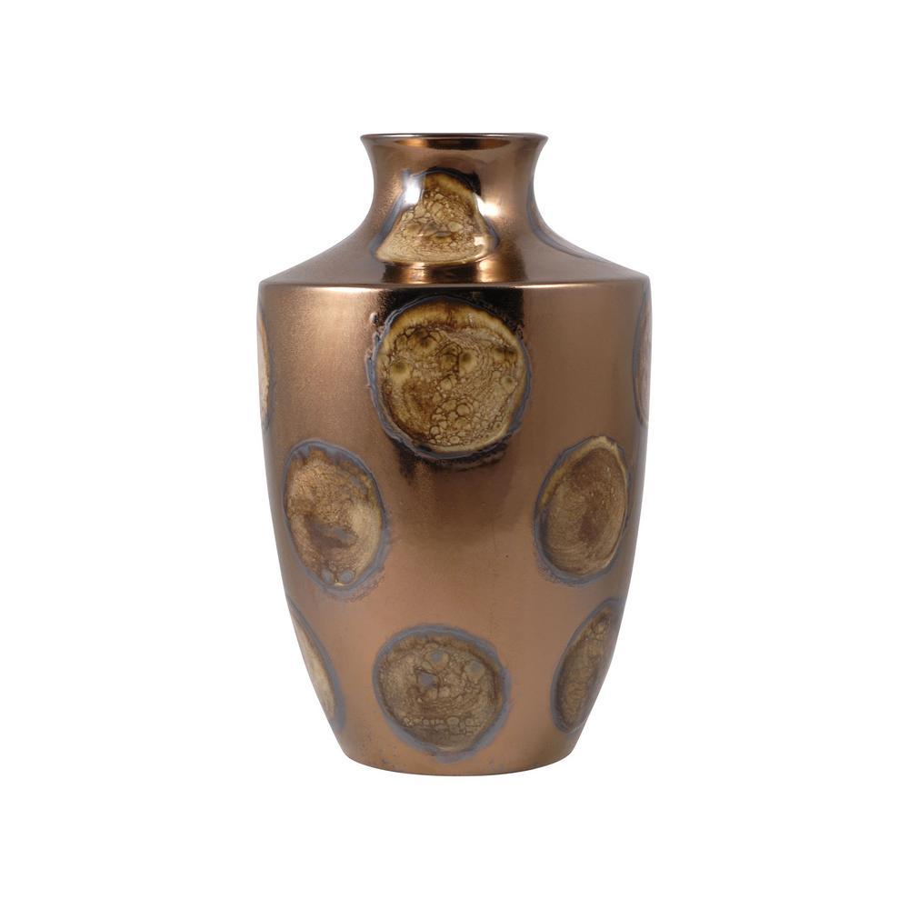 Holden 12 in. Ceramic Decorative Vase in Glazed Orbis Finish