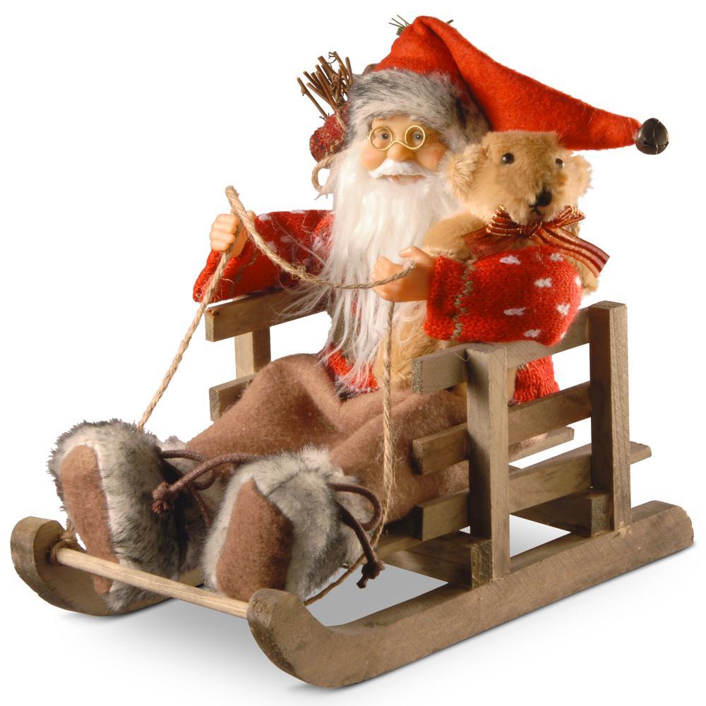 7.8 in. Santa in Sleigh