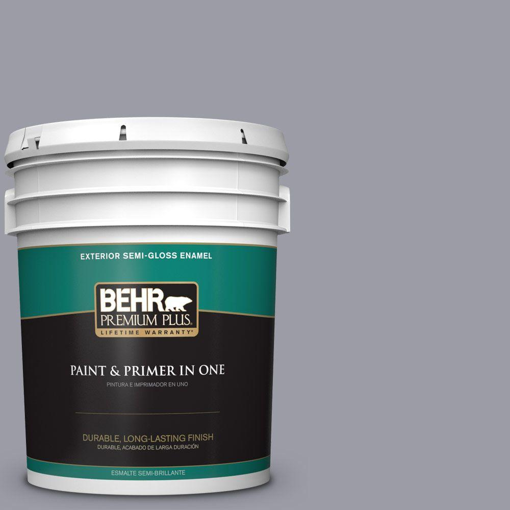 5-gal. #BNC-09 Heather Gray Semi-Gloss Enamel Exterior Paint