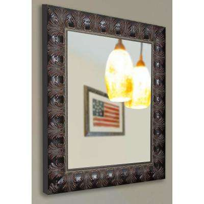 30.5 in. x 36.5 in. Classic Feathered Non Beveled Vanity Wall Mirror