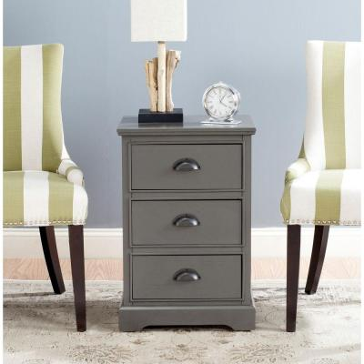 Griffin Gray Storage Side Table