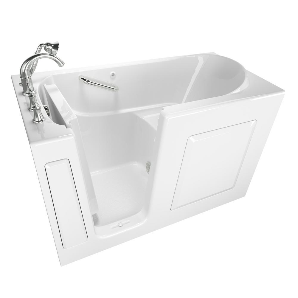 American standard exclusive series 60 in x 30 in left for Walk in tub water capacity