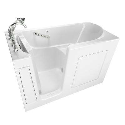 Exclusive Series 60 in. x 30 in. Walk-In Soaking Tub with Quick Drain in White