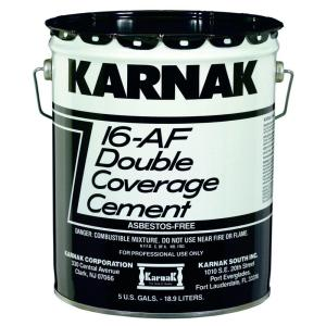 Karnak 5 Gal Double Coverage Lap Roof Coating Cement 16