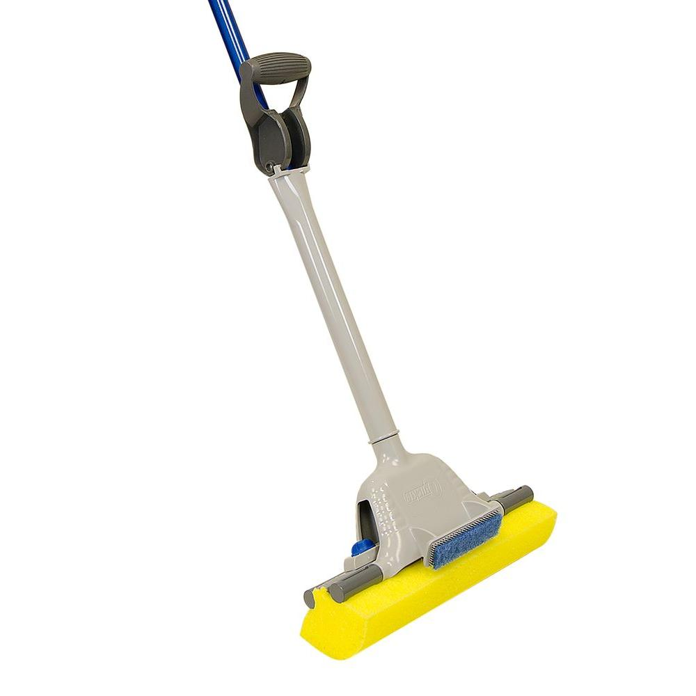 Jumbo Mop and Scrub Roller Sponge Mop with Microban