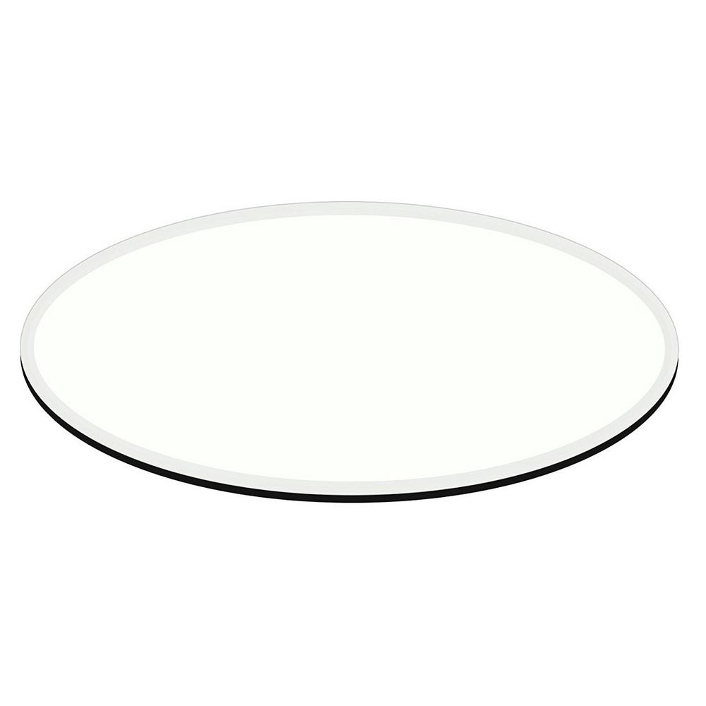 24 in. x 48 in. Clear E-Oval (Elliptical) 1/2 in. Thick