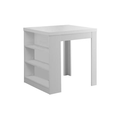 White Counter Height Dining Table Storage Pub/Bar Table