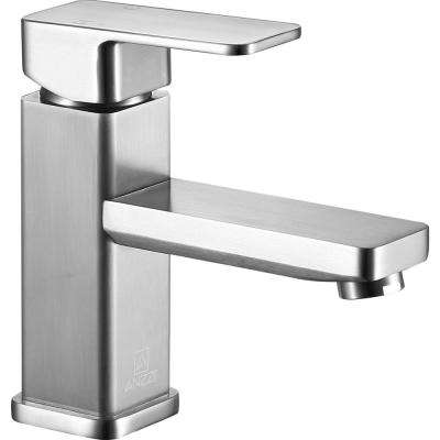 Naiadi Single Hole Single-Handle Bathroom Faucet in Brushed Nickel