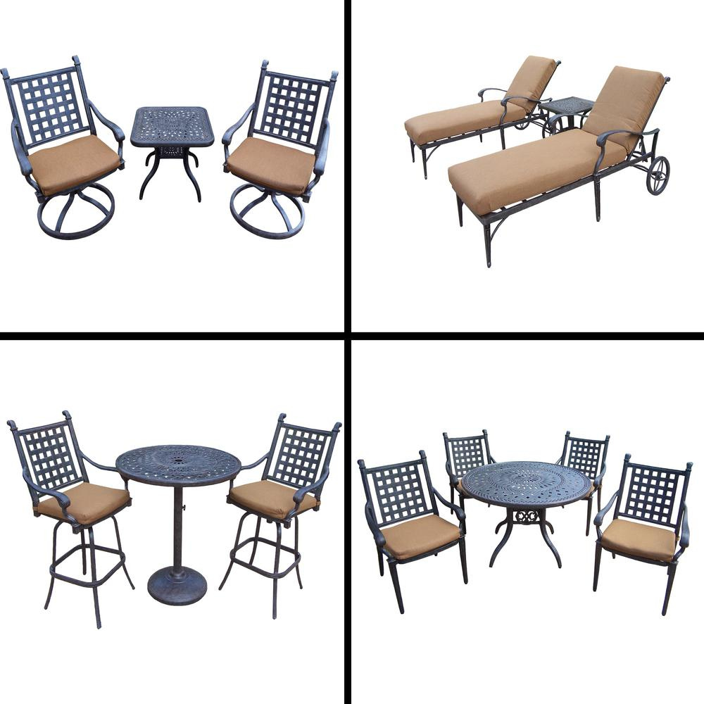 5 Piece Belmont Dining Room Collection: Belmont Premier 14-Piece Aluminum Outdoor Dining Set With
