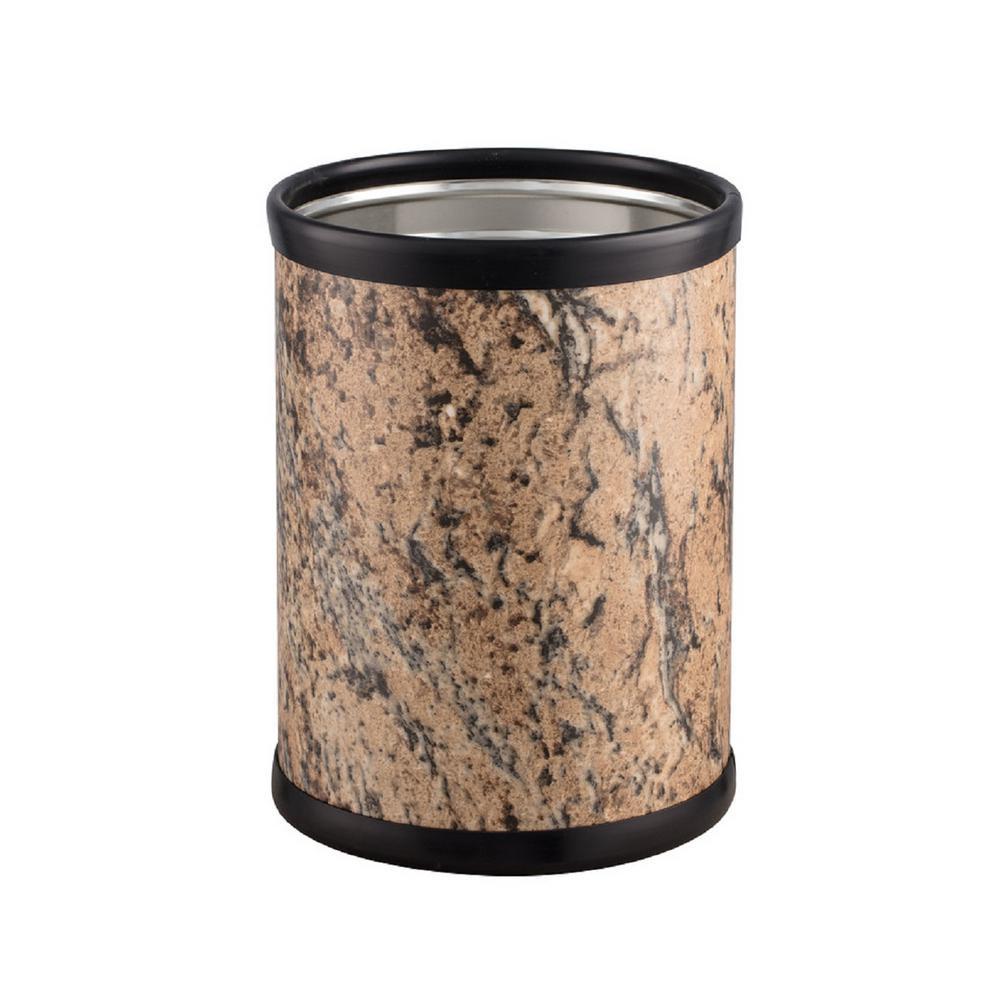 Quarry 8 Qt. Russet Stone Round Waste Basket