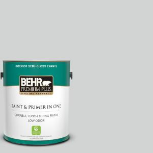 1 gal. #PPU26-11 Platinum Semi-Gloss Enamel Low Odor Interior Paint and Primer in One