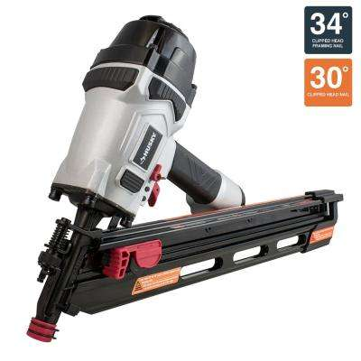 34° Corded Pneumatic Clipped Head Framing Nailer