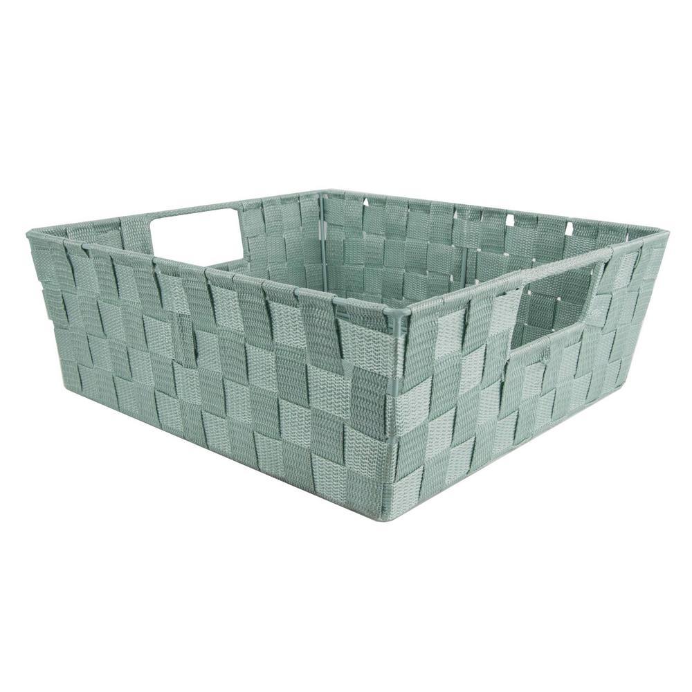 Home Basics Fabric Decorative Storage Basket  sc 1 st  The Home Depot & Home Basics Fabric Decorative Storage Basket-PB45473 - The Home Depot