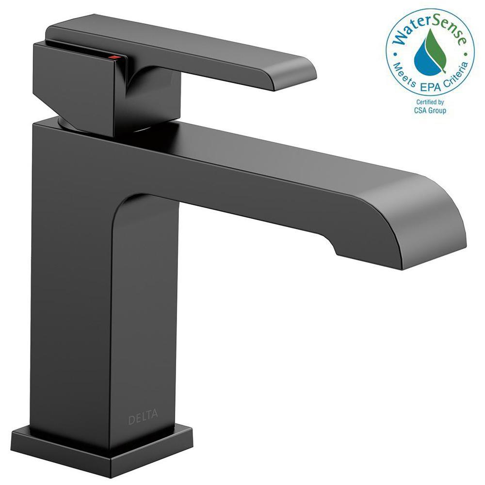 Ara Single Hole Single-Handle Bathroom Faucet in Matte Black