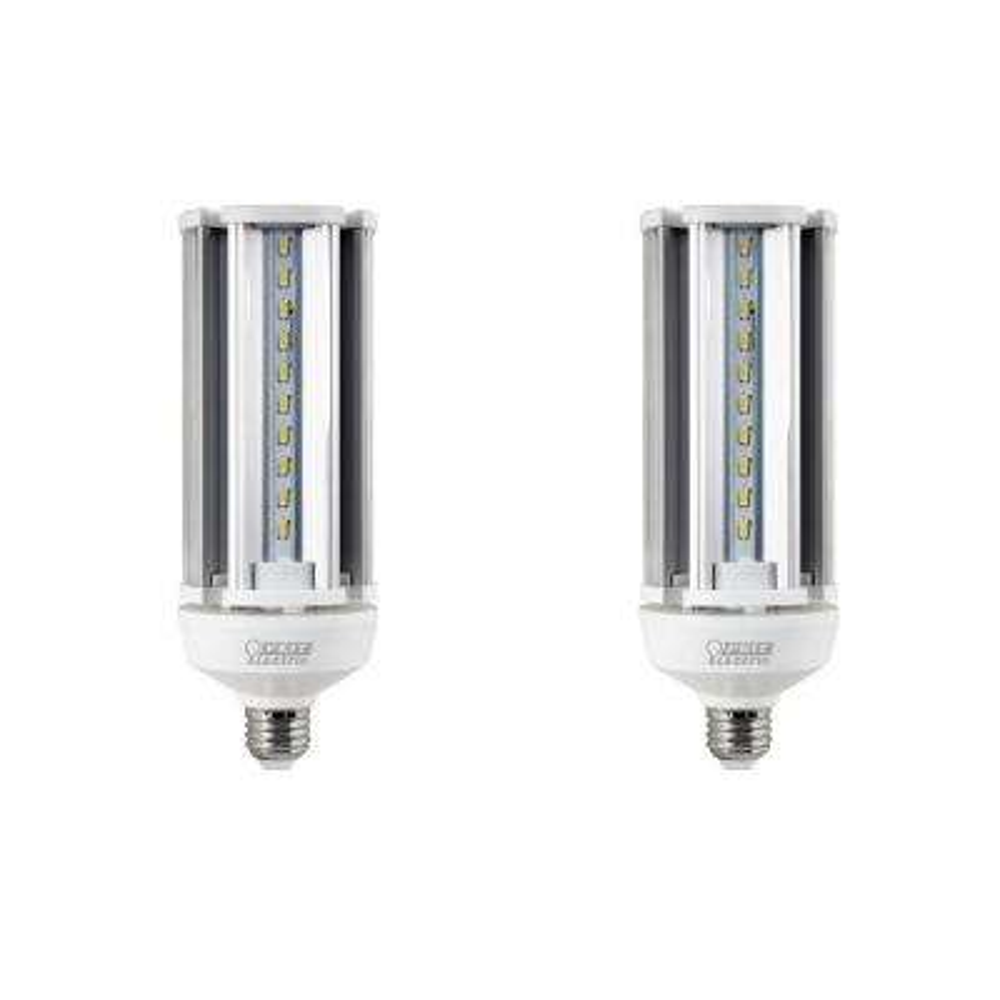 300-Watt Equivalent Corn Cob LED High Lumen Daylight (5000K) Utility LED Light Bulb (2-Pack)