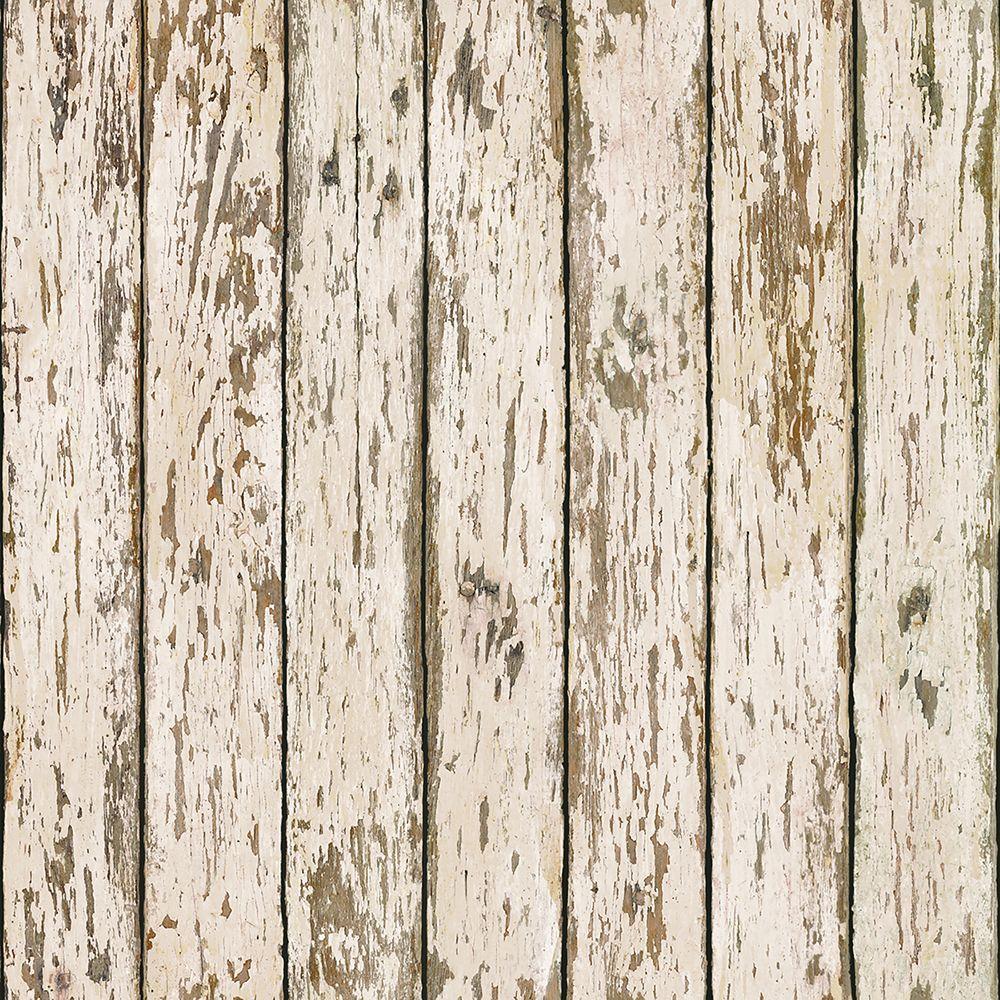 Weathered Brown Wood Wallpaper
