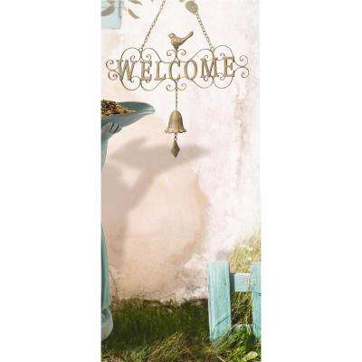 22.5 in. Metal Welcome Hanging Sign
