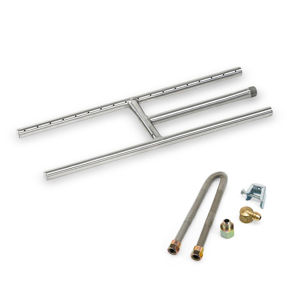18 in. x 6 in. Stainless Steel H-Burner